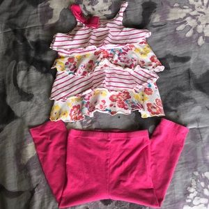 Juicy couture spaghetti strap and pants set